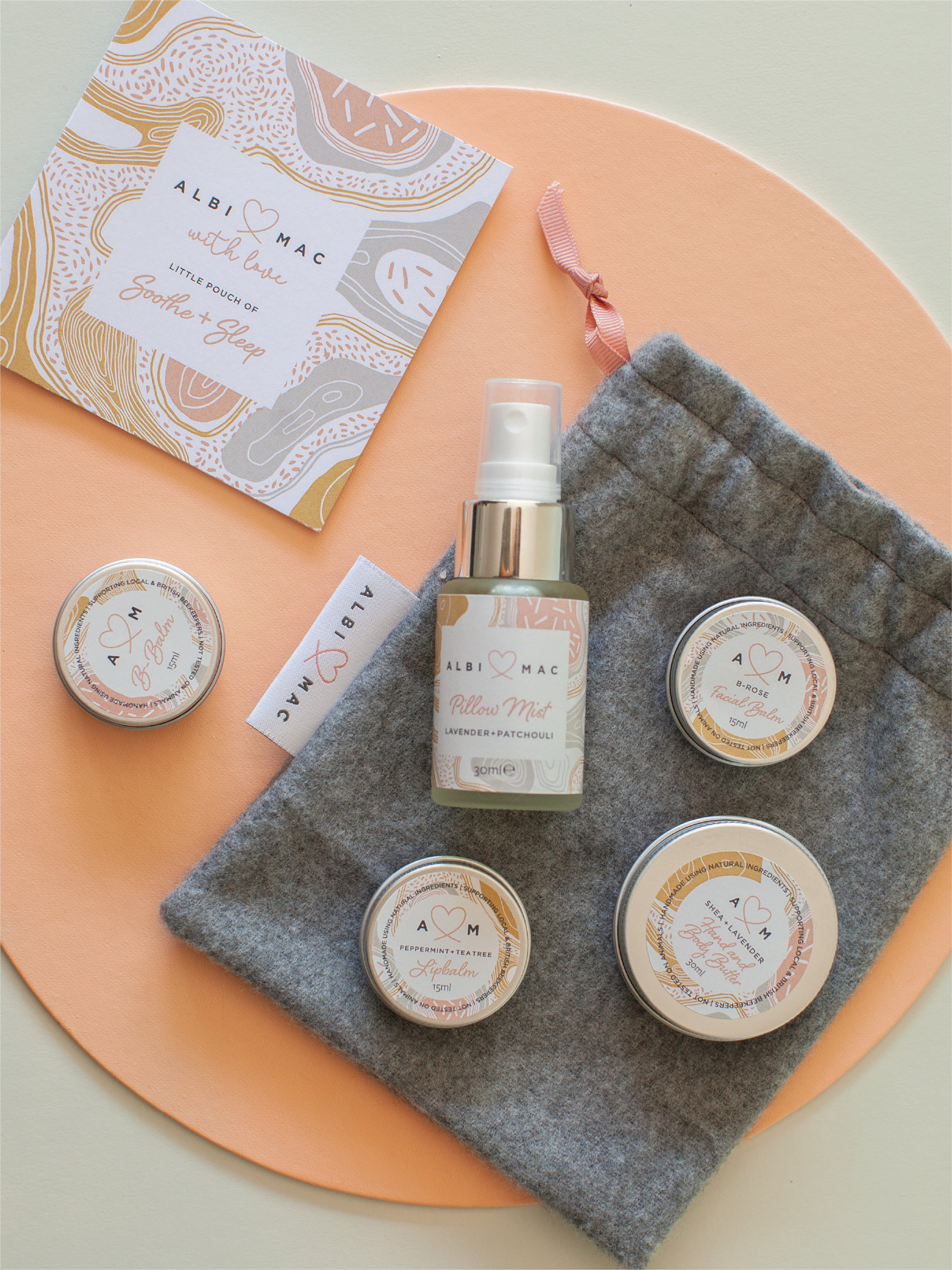 Pouch of balms  in a £50 Monthly Gift Box Subscription