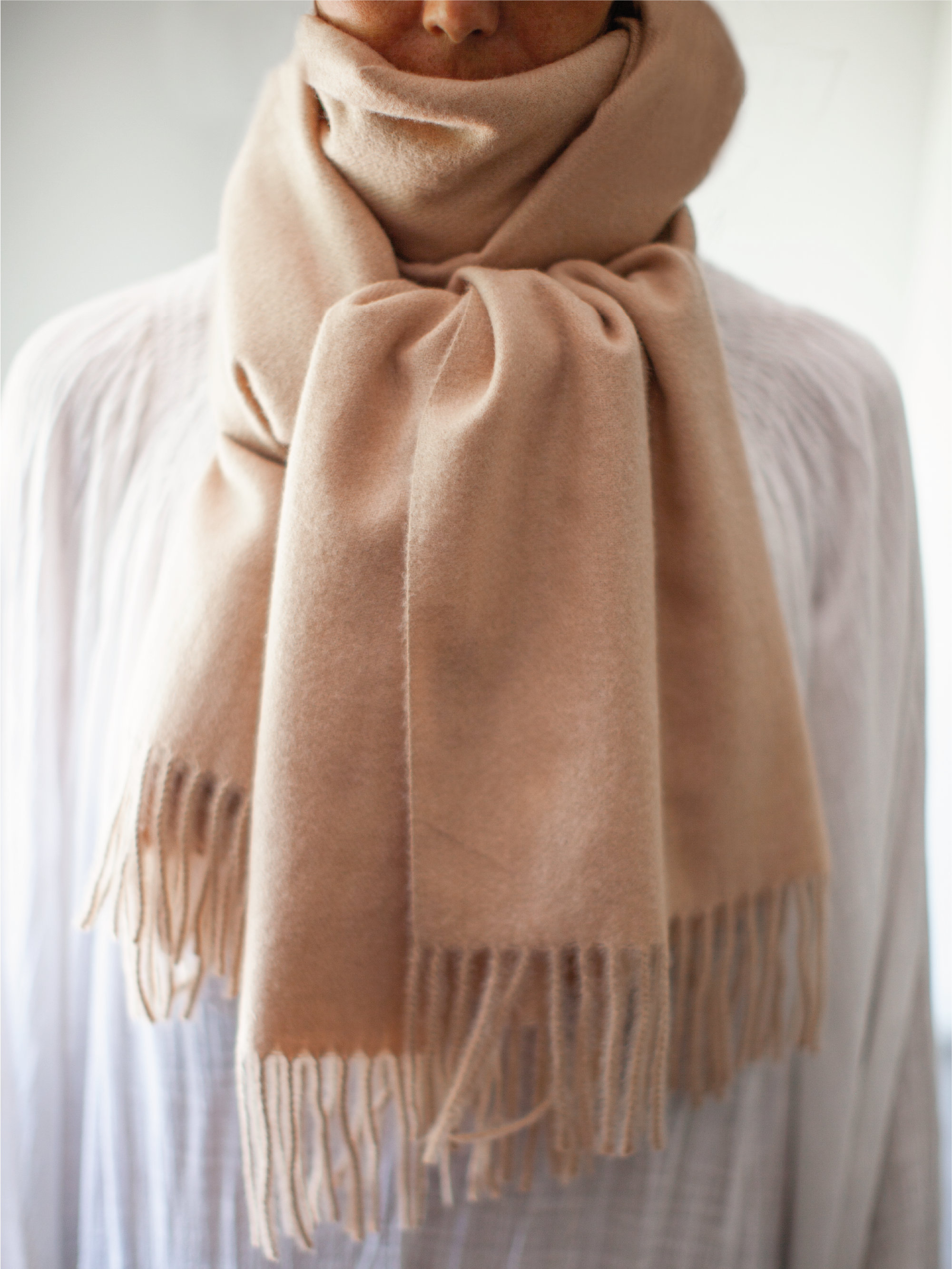 Pink Albi & Mac Cosy Cashmere Blend Scarf