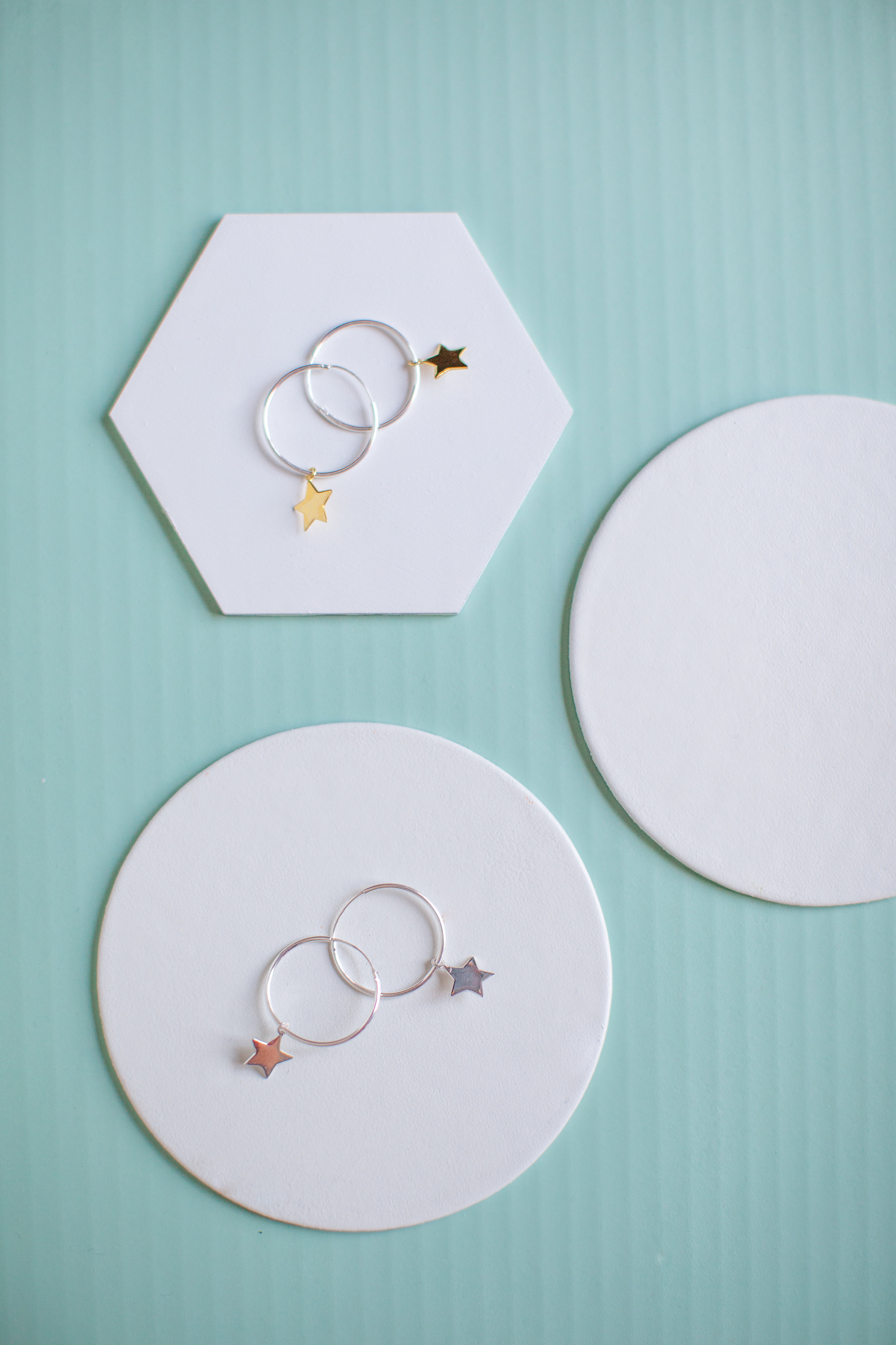 Sterling silver hoops found in a £50 Monthly Gift Box Subscription