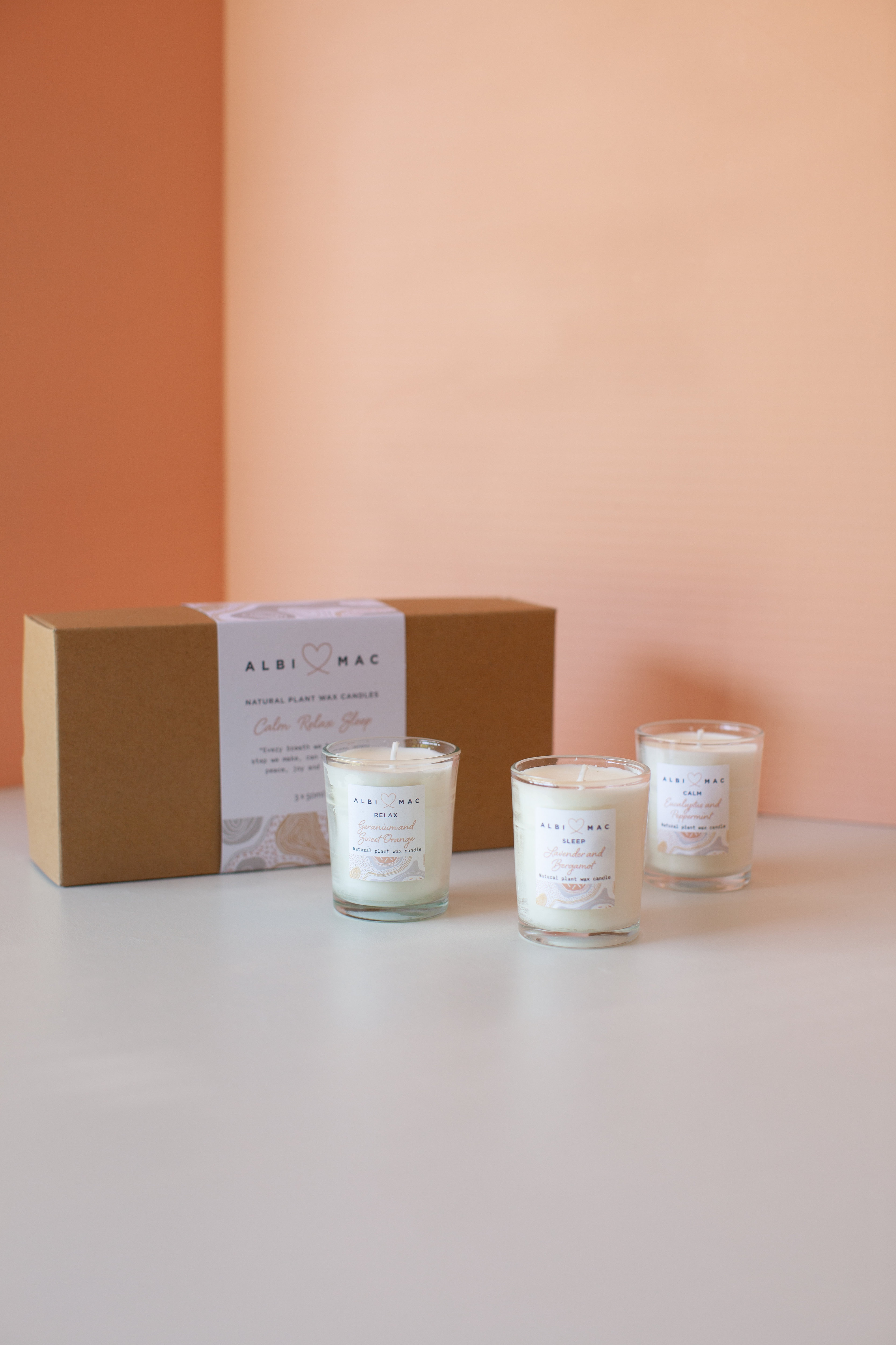 Set of travel candles