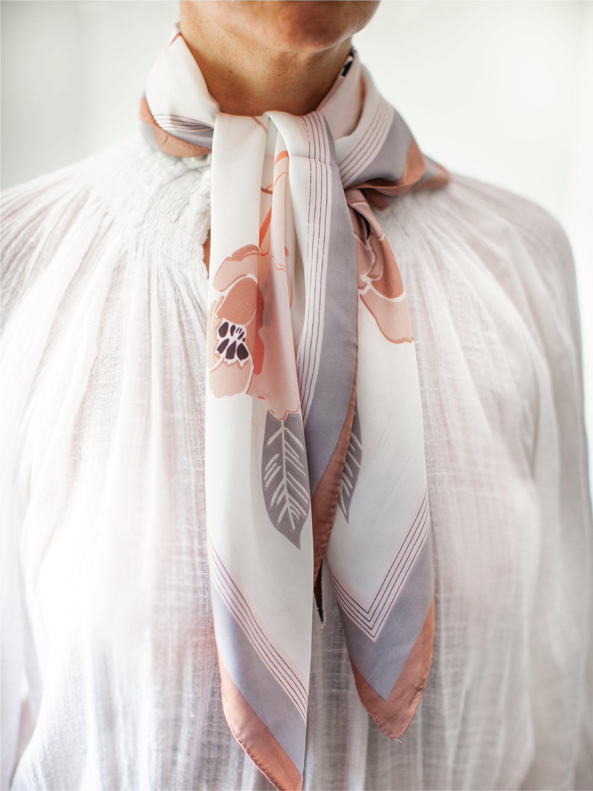 Albi & Mac satin  and silk scarf