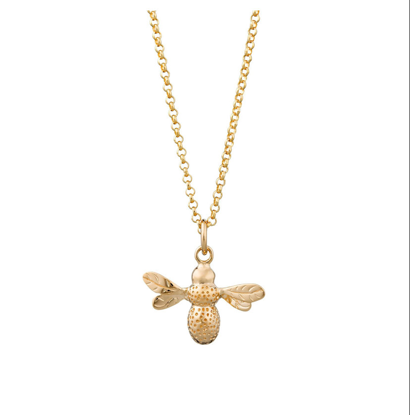 Bee charm necklace by Albi & Mac