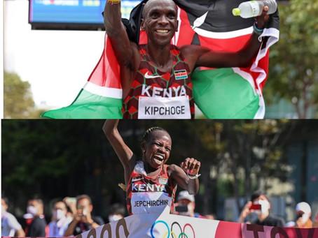 Eliud Kipchoge and Perez-Jepcher Won the Men's and Women's Marathon Champions!