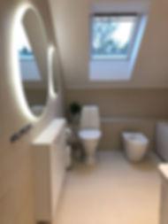 Badrumsrenovering på Lidingö, bild visar badrummet efter renovering