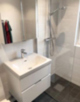 Badrum i Solna efter renovering, badrummet renoverades av Badrumsgruppen i Bromm