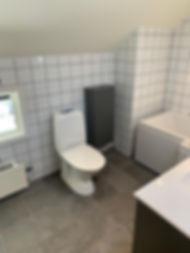 Badrummet efter totalrenovering med Badrumsgruppen Totalentreprenad