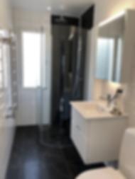 Efter Badrumsgruppens renovering i badrummet i Järfälla