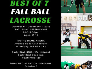Last Day: Fall Ball Early Bird Registration! Deadline - 7:00pm