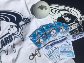 Prize 3: 2019 Manitoba Blizzard Lacrosse Season Tickets and Prize Pack
