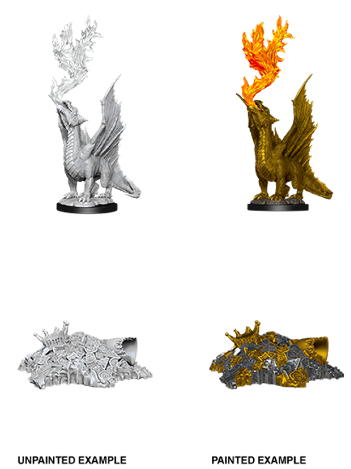 Golden Dragon Wyrmling & Treasure Pile