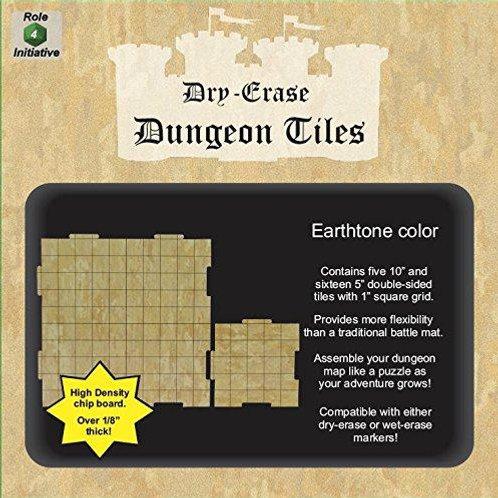 "Earthtone Dry-Erase Dungeon Tiles Combo Pack (Five 10"", Sixteen 5"")"