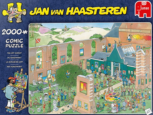 Puzzle Jumbo Jan van Haasteren - Le marché de l'art 2000 mcx