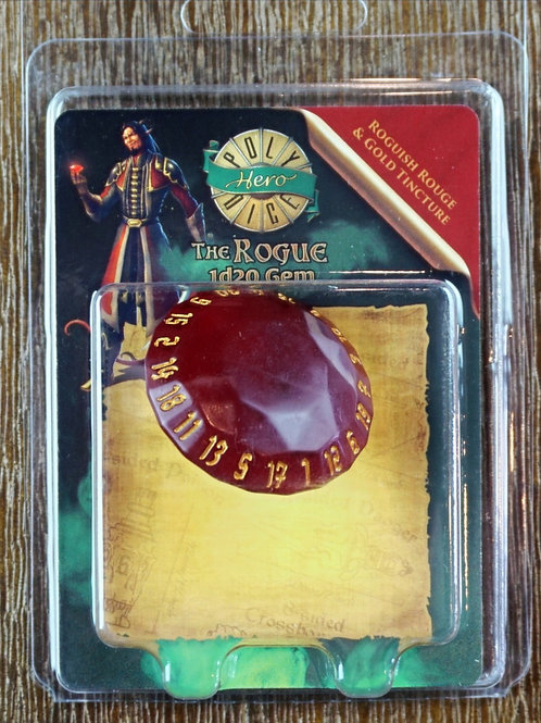 The Rogue - 1d20 Gem - Roguish Rouge & Gold Tincture