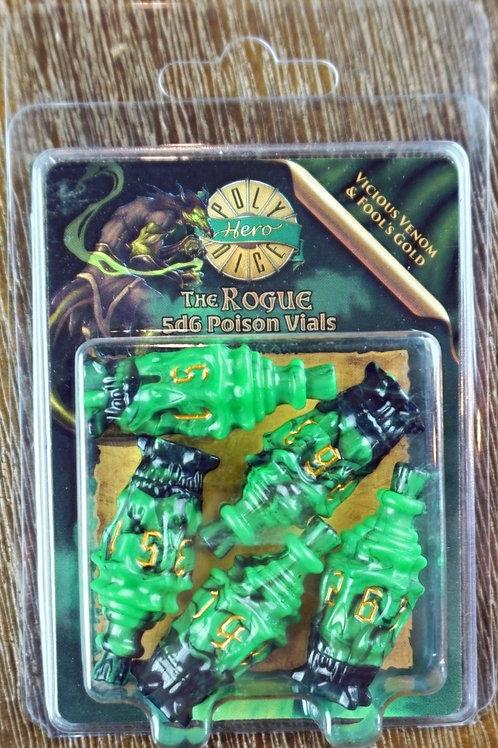 The Rogue - 5d6 Poison Vials Vicious - Venom & Fool's Gold