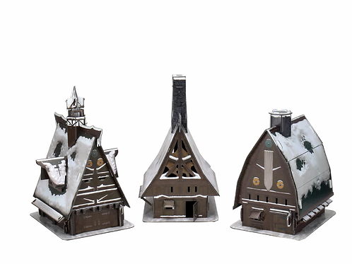 Ten Towns Papercraft Set - D&D Icons of the Realms - Icewind Dale