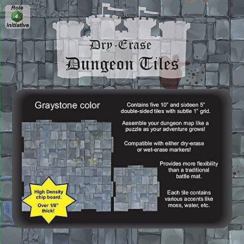 """Graystone Dry-Erase Dungeon Tiles Combo Pack (Five 10"""", Sixteen 5""""))"""