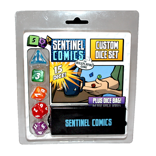 Dice Set - Sentinel Comics: The Roleplaying Game - pré-commande