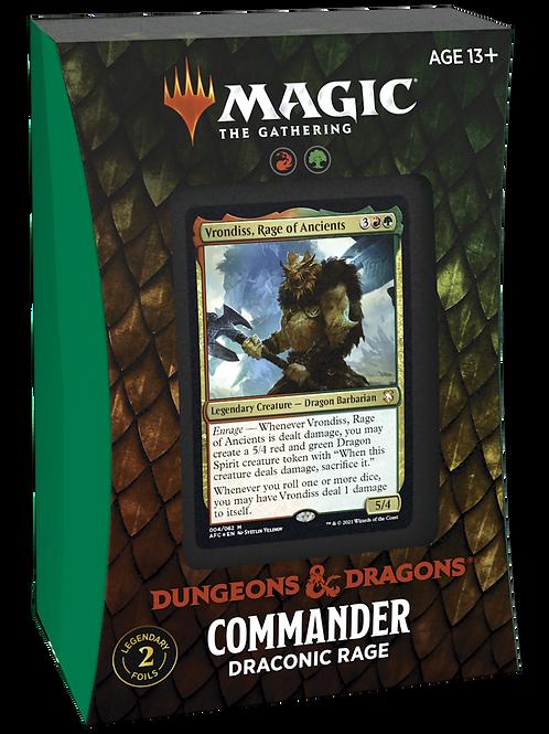 DnD Commander Draconic Rage - MTG