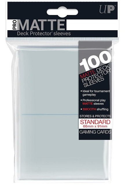 Protecteurs (sleeves) Ultra Pro 66x91 mm Clear Matte (paquet de 100)