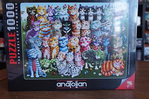 Puzzle Anatolian - 1000 mcx Cat Family Reunion