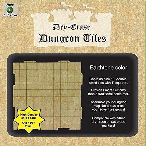 "Nine 10"" Earthtone Dry-Erase Game Tiles"