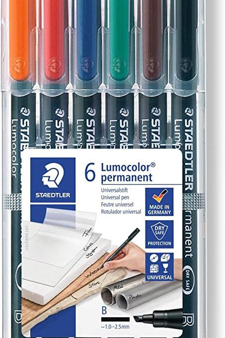 6 Lumocolor non permanent (feutre universel)