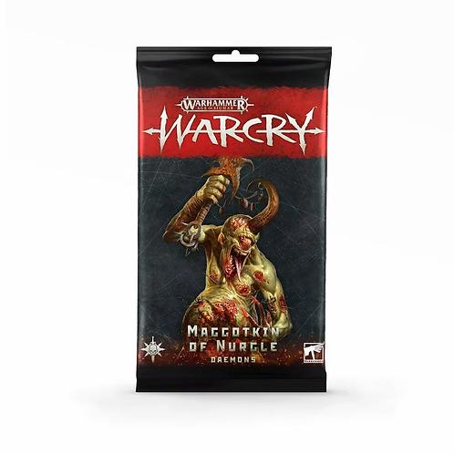 Warcry : Cartes de Maggotkin of Nurgle