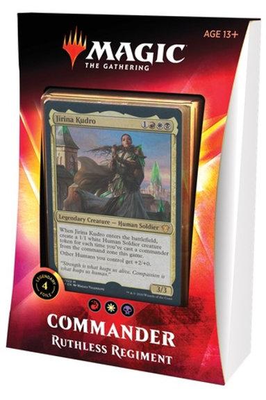 MTG Commander Ikoria: Ruthless Regiment (RedWhite-Black)
