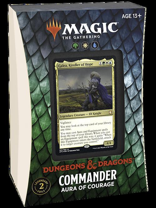 DnD Commander Aura Of Courage - MTG
