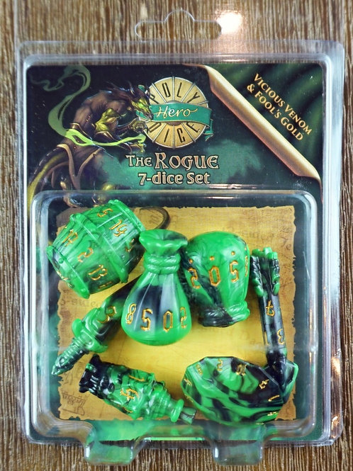 The Rogue - 7 dice set - Vicious Venom & Fool's Gold