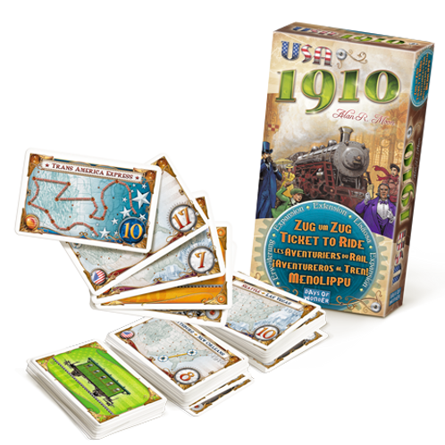 Les Aventuriers du Rail - ext. 1910 (multilingue) Ticket to Ride