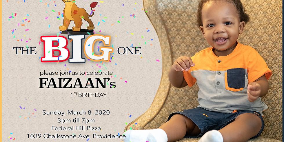Faizaan's 1st Birthday!!!