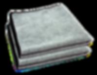 Microfiber cloth 16 x16 300 gsm grey