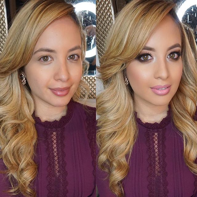Before and After 💕 Today's glam deets on _claudia_candelas 🎂 Mua_ #marlyn_v _Brows_ _anastasiabeve