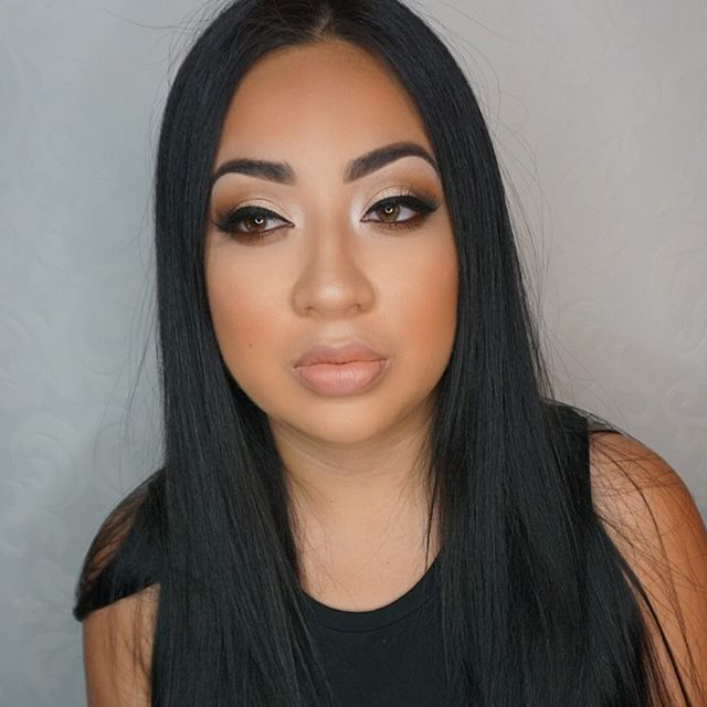 Yesterday's glam on my lil sis _ashbaabe 💕 #restingbitchfaceonfleek 😂 Brows_ _anastasiabeverlyhill