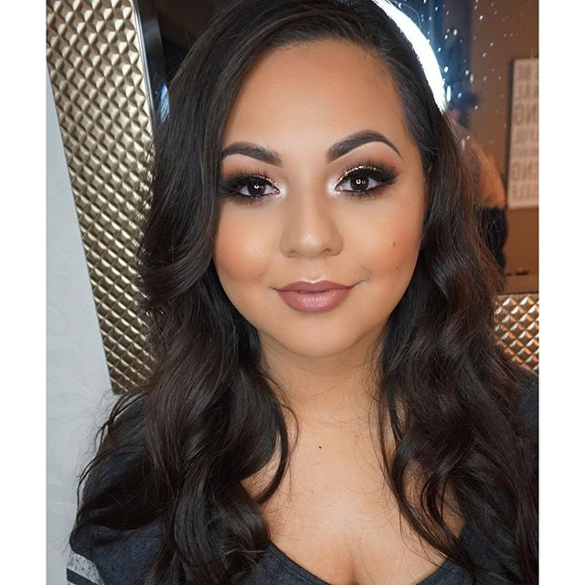 Last nights Birthday Glam on the bestie! She looked amazinggggg! 💕_Makeup deets__Brows_ _anastasiab