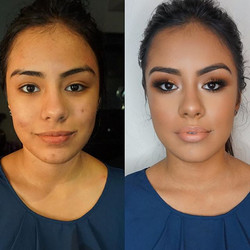 Before and After glam on our beautiful model! 💄 Had such a great makeup day with _beauty_innovation