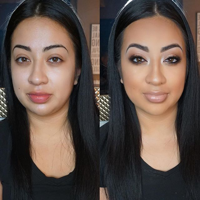 Today's soft glam on my little sis! 💄 #BeforeandAfter tutorial on this look next! Stay tuned! Mua_