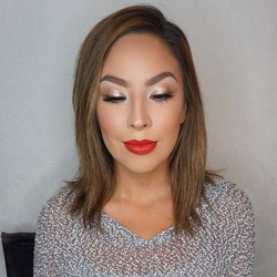 Glam Deets on this bold lip 💄 glam!! Foundation_ _makeupforeverofficial ultra HD invisible stick fo