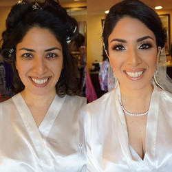 Before and After on today's Persian beauty! 👰🏻💕 She's just radiant!! Makeup video next! Mua_ #mar