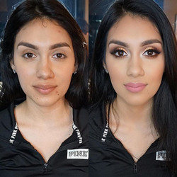 Today's Bronzy glam on this beauty! 😍 She had the most amazing features! Makeup tutorial up next! M