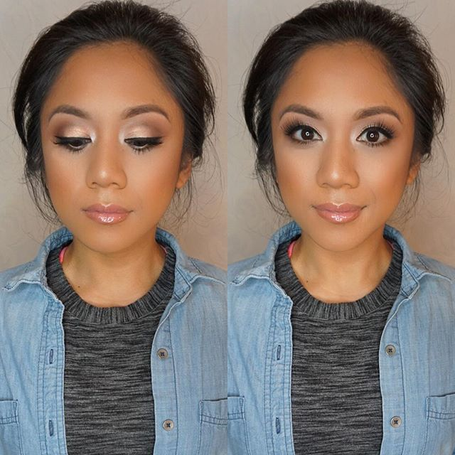 Soft bridal 👰🏻 glam on this beauty!! Mua_ #marlyn_v _Brows_ _anastasiabeverlyhills brow powder sof