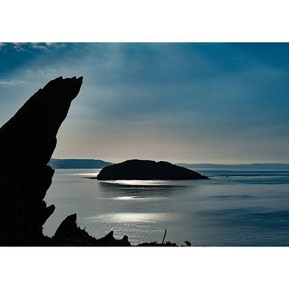 Looe Island in the Blue