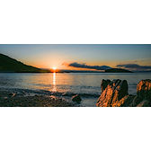 Sunrise on the rocks - Wide