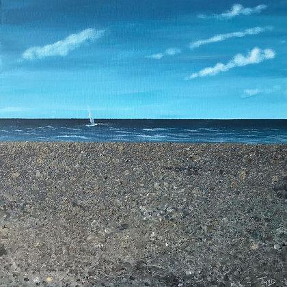 Pebbles Sea Sky