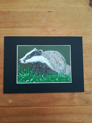 'Badger' acrylic painting