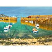 Mousehole Harbour. Sunshine after Rain Passes to Penzance