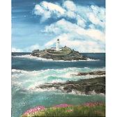 Sea Pinks & Godrevy Lighthouse