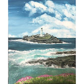 Sea Pinks & Godrevy Lighthouse