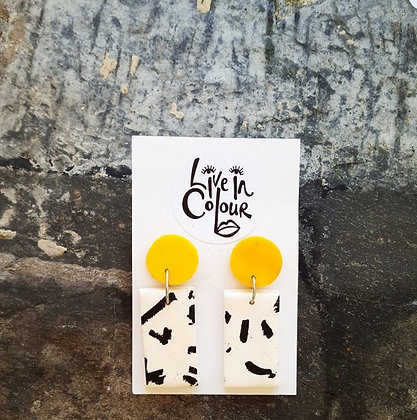 Cow Print - Yellow Block